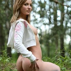 Elle B met-art outdoor shaved forest Volkov purdy teen babe pale
