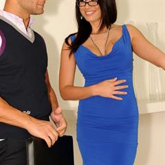 Eva Angelina cum on glasses club-sandy dark eyes minidress 21sextury hardcore pornstar brunette piercing