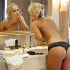 Tracy A extreme cutie nudecollect perfection panties met-art skinny blonde shaved shower