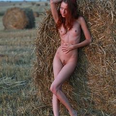 small tits outdoor redhead trimmed shaved erohd field Kesy nude hay