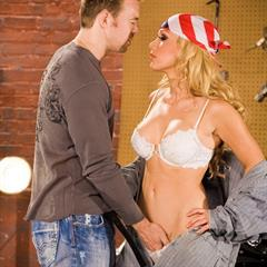 Kayden Kross fake tits freeones pornstar hardcore bandana garage blonde implants