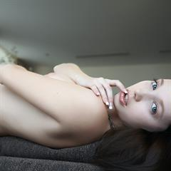 Mina raven haired blue eyes shaved wifecv pale