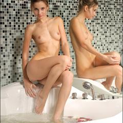Irma B Phiby Fibby MPLstudios brunette bathtub hair up Irina bath teen