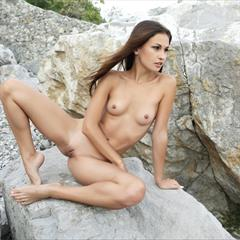 Demi Fray Edessa G Lilian A wrinkled soles rock climbing labia meaty plump pussy high arches arched brown eyes