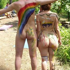 dollars-paradise bodypainting outdoor nudist naturist outside