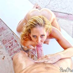 Cherie DeVille totally shaved anal dildo puremature fake tits self big kissing outdoor