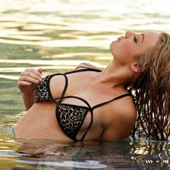 Jenna Nickol Keiden Kross full set wet hair perchik bikini water soft garment