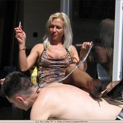Lady Barbara B babesglamour facesitting cigarette smoking feet