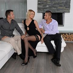 Lana Roberts Karina Grand double penetration 21sexturylove cocks in face eye contact dpfanatics hardcore creampie blonde