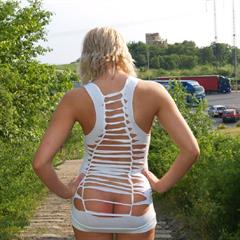 public humiliation backless dress landing strip photo-nudist plump pussy bottomless small tits bent over sexy pose outdoor