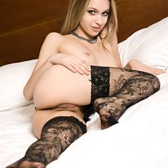 Izolda A black stockings lingerie quintessential seethrouhgt seethrough five star in bedroom