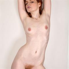 Barbara Babeurre pinkfineart redhead hairy