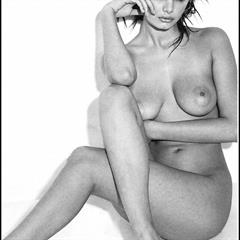 Carla Bruni celebs-and-models black and white celebrity topless celeb naked nude
