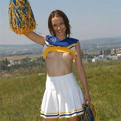pacinosworld cheerleader schoolgirl miniskirt outdoor upskirt shaved skirt outside