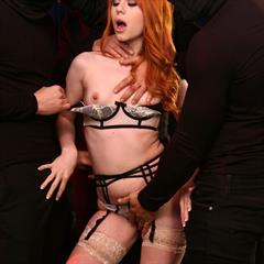 Ella Hughes Marc Dorcel babesource stockings hardcore redhead trimmed shaved nylons FMMM