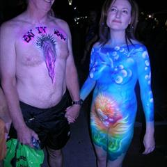 nude in public bodypainting flashgang outdoor lolz outside