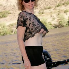 Seven Devils Mines sunglasses corsetpix outdoor mature boat MILF outside