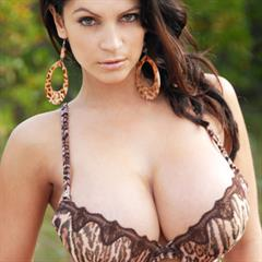 Denise Milani nipples close up denisemilani big naturals earrings tits brunette nonnude busty