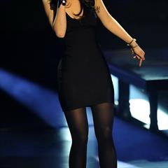 Lena Meyer Landrut black pantyhose celeb-for-free dress Eurovision celebrity nonnude singing