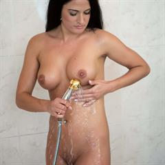 Nicole Vice raven haired long hair showering brunette mc-nudes glamour pissing shaved series