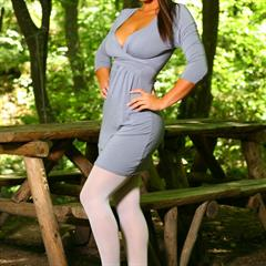 Emma Twigg white pantyhose topless only only-opaques opaques picnic table onlyopaques tease-pics high heels