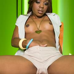 Lil Baby galleryhost green walls vibrator asshole shaved black ebony dildo babe