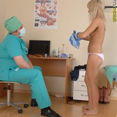 specialexamination totally shaved porn-o-rama speculum doctor blonde CMNF