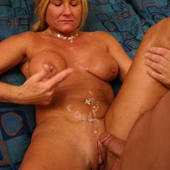 Roxy milfswildholiday platinum blonde cum on stomach MILF and young mature shaved