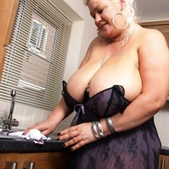 bigbouncingboobies big tits hangers kitchen mature granny old