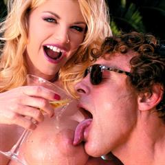 Vicky Vette big tits implants private trimmed blonde shaved babe pool FMM