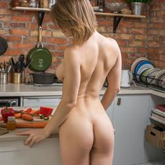Yelena UHQ VHQ subirporno lickable ass imagefap brunette kitchen spread bobcut shaved