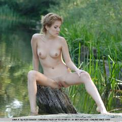 Helen C Lima A plump pussy short hair perky tits Mishelle met-art outdoor blonde