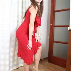 tight red dress porcodollars headband feet solo garment
