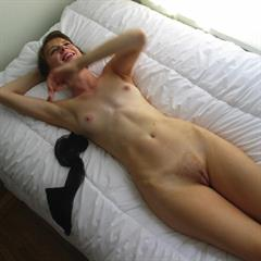 pinkfineart NewNudeCity perky tits redhead trimmed bed ass