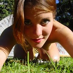 looking down nakedplanet ishotmyself thick labia hairy arms peach fuzz peachfuzz body hair outdoor shaved