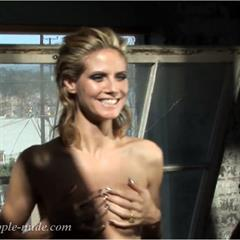 Heidi Klum famous-people-nude celebrity topless German celeb naked nude