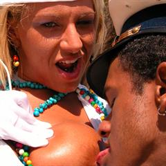 Marti Gras Beads blacksonblondes interracial cum bubbles beachfuck hardcore captain uniform outdoor condom