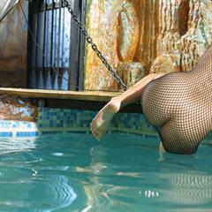 Felicity Fey freehostedpics bodystockings fishnet dress big naturals seethrough floating swimming tits