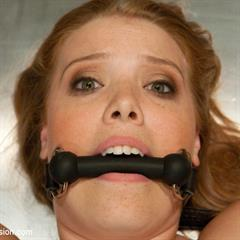 Sierra Skye sexandsubmission firecrotch freckles gagged ginger hairy saggy BDSM pump