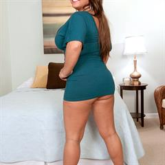 Stephanie Stalls scoreland huge tits minidress big ass llnwd heels solo BBW bed