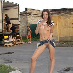 russiasexygirls miniskirt flashing brunette outdoor upskirt shaved outside