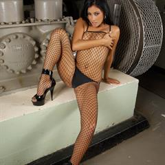 Anetta Smrhova Keys fishnet bodystocking pierced tongue glamourimages black Bumble girls faptastic