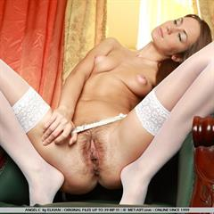Angel C June Fucking Beautiful white stockings plump pussy puffy tits long hair big lips met-art