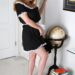 feather duster french maid allover30 freckles AllOver mature shaved globe solo