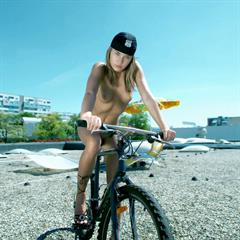 Veronika Fasterova Veronique A shooshtime small tits bicycle outdoor met-art Verunka blonde