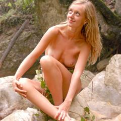 Zina A Tina imagesexplore waterfall outdoor trimmed blonde Zemani busty