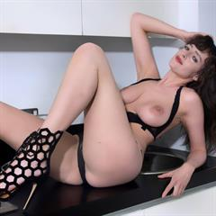 Kate Anne my eyes hypnotise fully shaved perfect body butter face lingerie brunette big nose hqbabes British