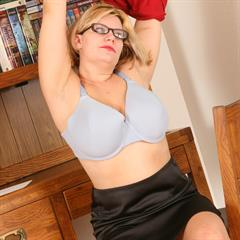 Bailey Santanna Tiffany Blake big naturals black skirt bravomamas auntjudys Librarian glasses bra