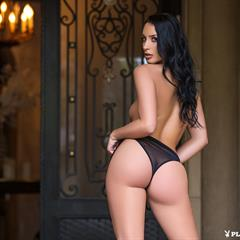 Kendra Cantara breathtaking raven haired killer butt playboyplus babesource diabolical brown eyes high heels seethrough