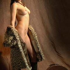 star tattoo pierced navel TheLifeErotic raven haired leopard fur blue eyes sexywoman coin slot kinghost coat